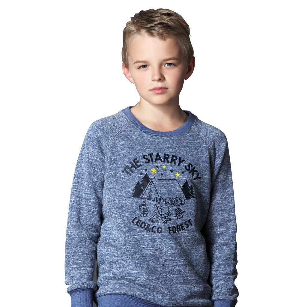 LEO&LILY Big Boys Casual Printing Sweatshirt and Sweatpants Set LLB870