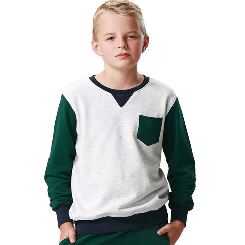 LEO&LILY Boys Casual Colors Panels Fleece Sweatshirts T-Shirt LLB887