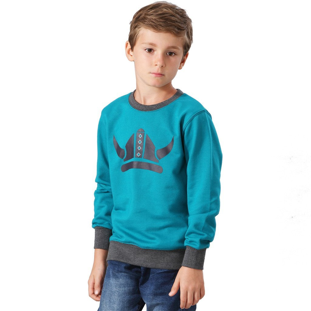 LEO&LILY Big boys Casual Long Sleeve Viking Printing Hoodie Sweatshirts LLB888
