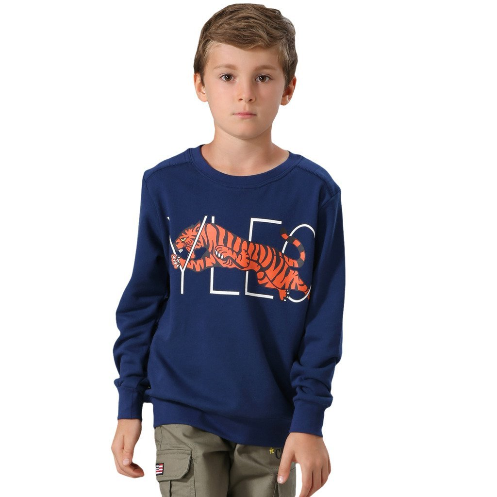 LEO&LILY Big Boys Casual Long Sleeve Cartoon Animal Sweatshirts Hoodie LLB889
