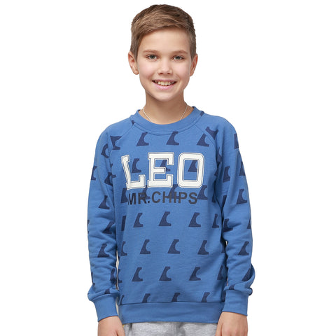 LEO&LLY Big Boys Fleece Tracksuit Hoodie W Husky Joggers Set LLB893W