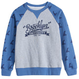 LEO&LILY boys Casual Print Raglan Sleeve Fleece Sweatshirts LLB895