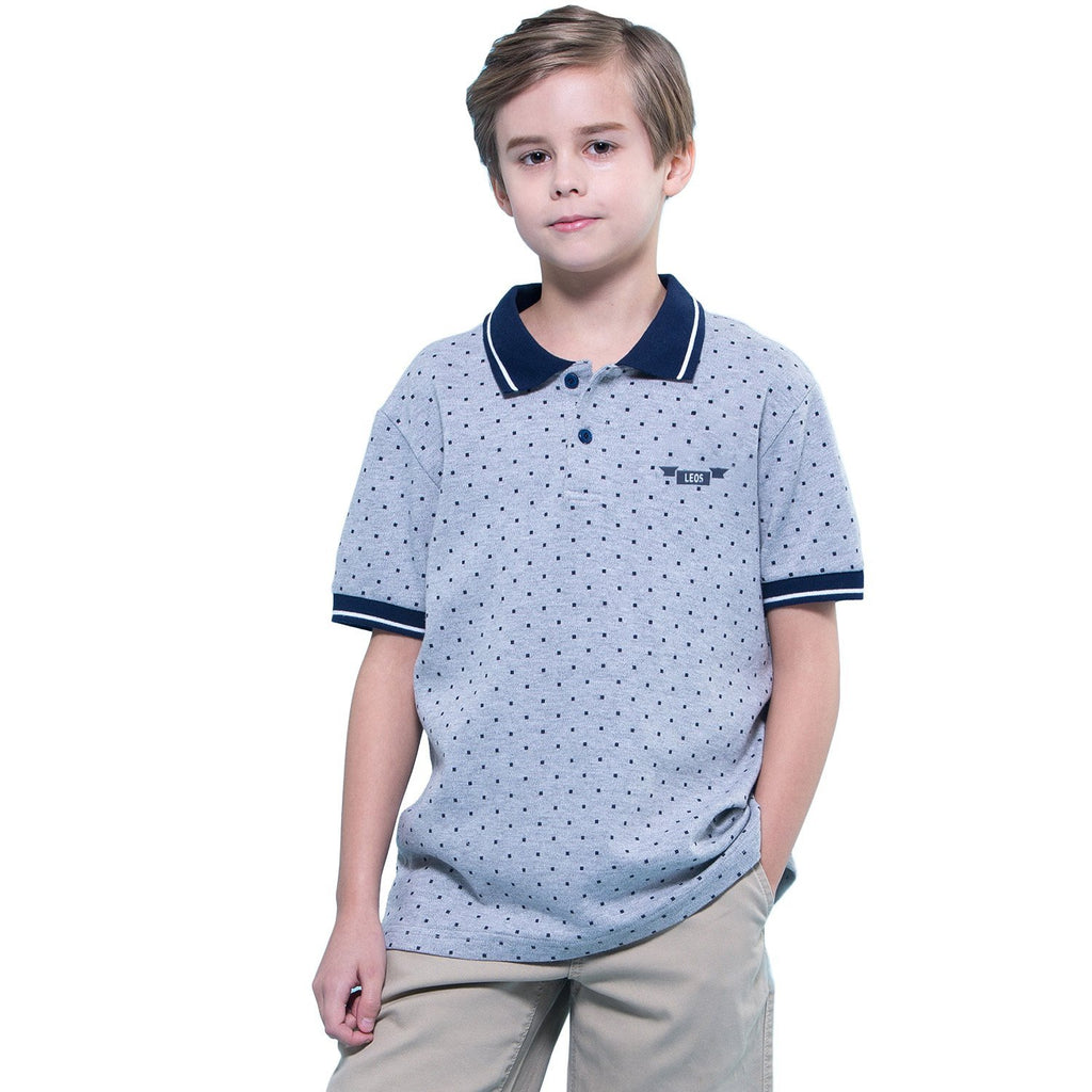 LEO&LILY Boys Kids Casual Sport Cardigan Polo Shirts LLB905