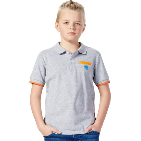 LEO&LILY Big Boy Casual Sports Cardigan Polo Shirt Contrast color Short Sleeve LLB9425