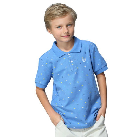 LEO&LILY Boys Kids Casual Sport Cardigan Printed Polo Shirts  LLB9432