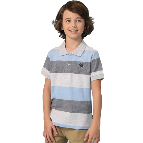 LEO&LILY Big Boys Short Sleeve Casual Rugby Polo Shirt LLB9A01