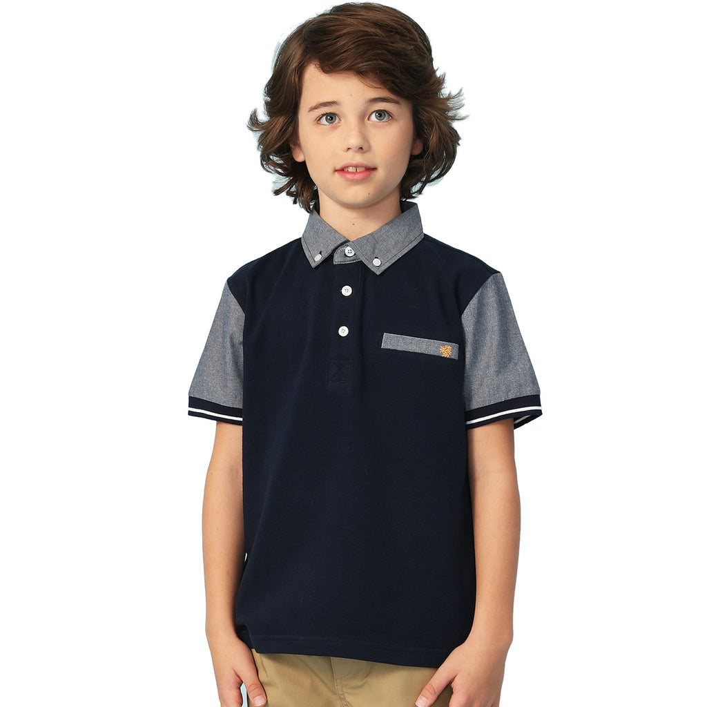 LEO&LILY Big Boys Short Sleeve Casual Rugby Polo Shirt LLB9A06