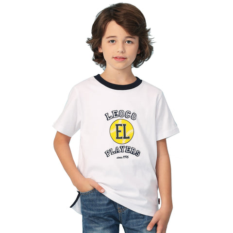 LEO&LILY Big Boys Short Sleeve Color Crew-Neck T-Shirt LLB9B06
