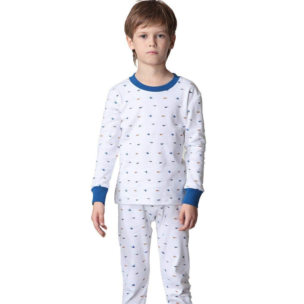 LEO&LILY Big Boys 100%Cotton Combed Comfortable Printed Pajamas Sets LLBP003