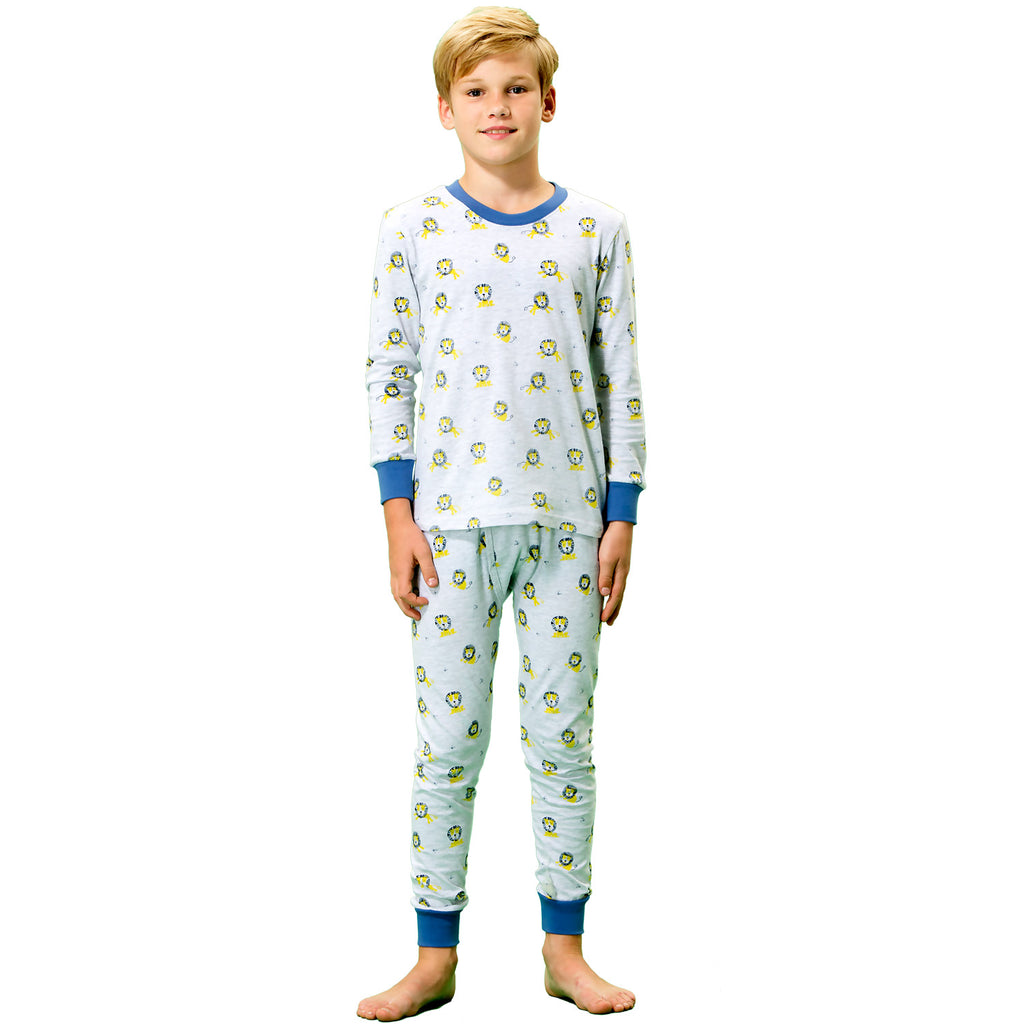 LEO&LILY boys Kids Cotton Interlock Printed Pajamas Sets LLBP013