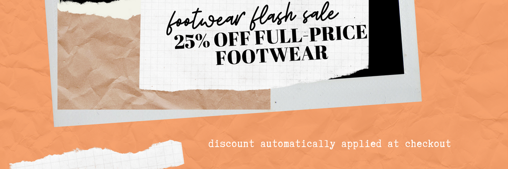 25% off full price footwear sale