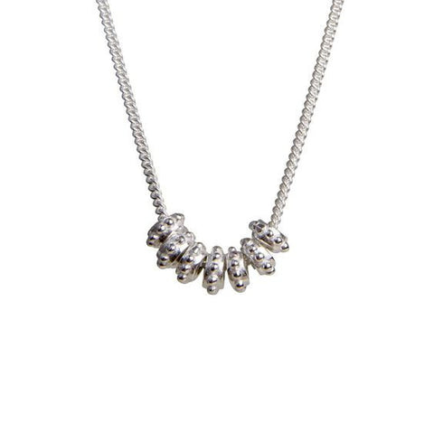 Fairley -ALEXA GRANULATION WISH NECKLACE SILVER