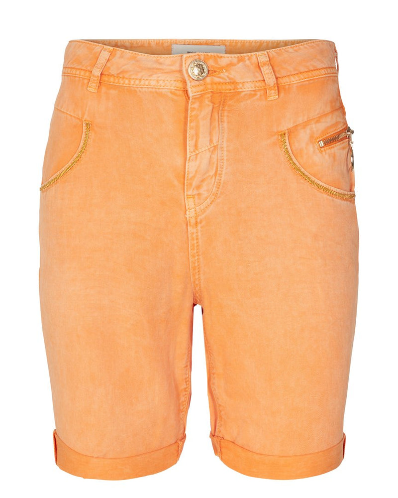 MOS MOSH - Nelly Block Shorts in Sun Orange