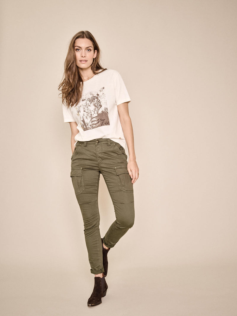 mos mosh cheryl cargo reunion pants in khaki green