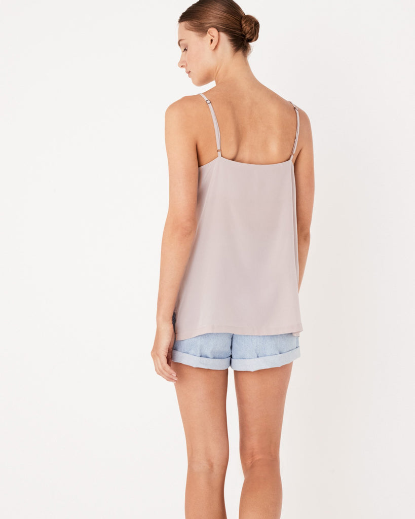 ASSEMBLY LABEL - SILK DEEP V CAMI FAWN