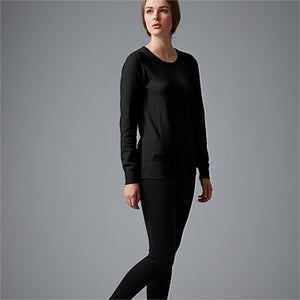 Wild South - CASHMERE COTTON CREW KNIT in Black