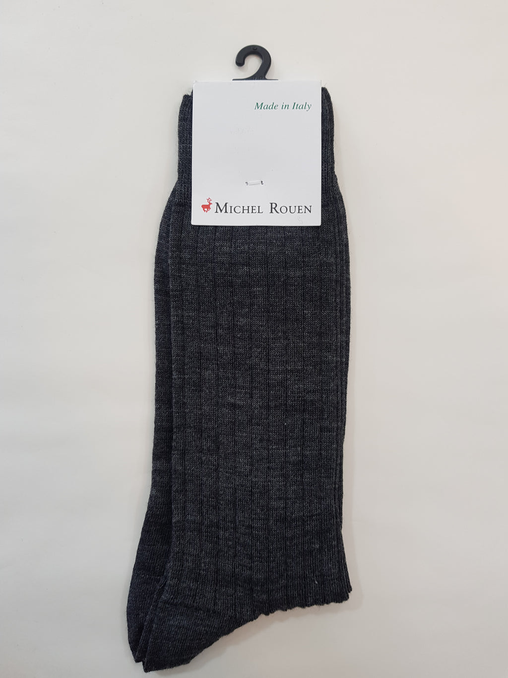 Michel Rouen Italian Wool Socks - Grey