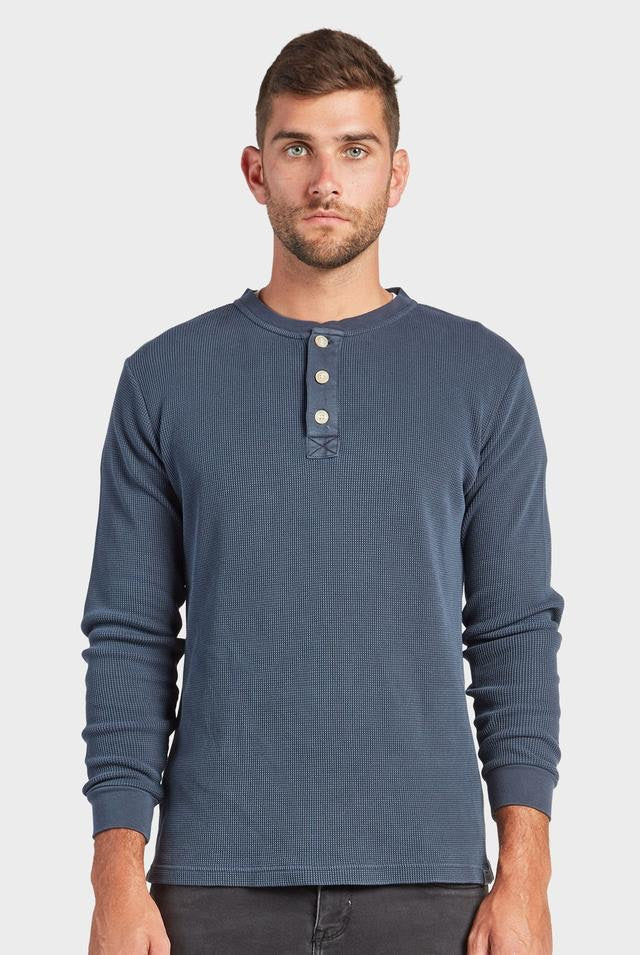 shop the sycamore crew henley online at hunterminx in navy