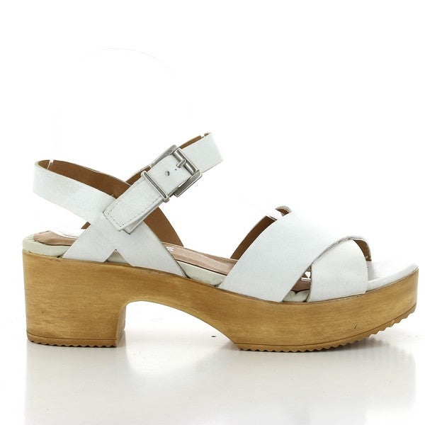 Igualados 2216 White Leather 'Clog'