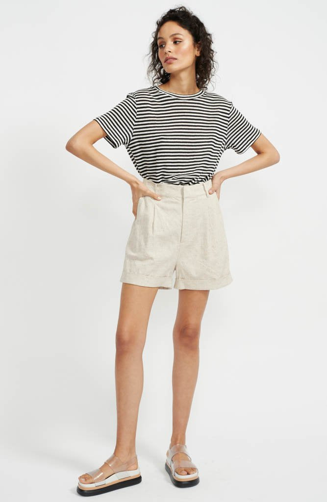 staple the label anouk city shorts high waisted linen