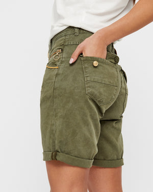 MOS MOSH - Nelly Block Shorts in Grape Leaf