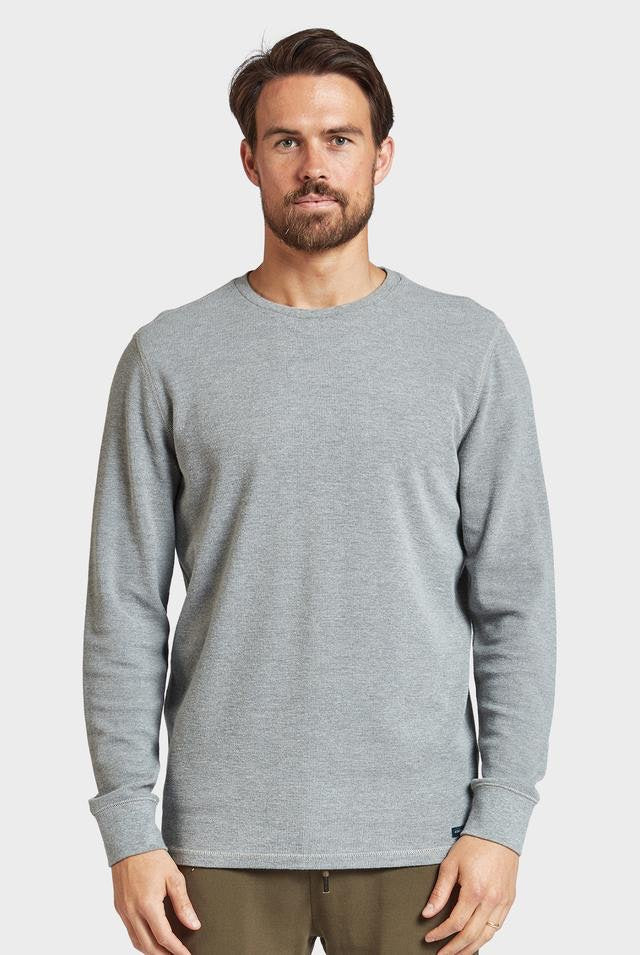 Academy brand - Workers Long Sleeve Crew in Grey Marle