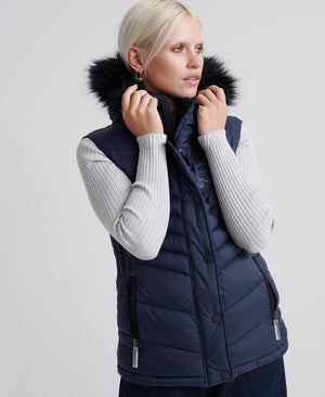 SUPERDRY - Fuji Gilet in Baltic Blue