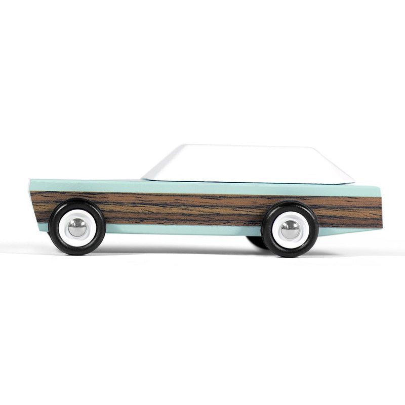 candylab mini blue woodie car