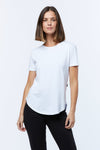 CASA AMUK - SADDLE HEM TEE - WHITE