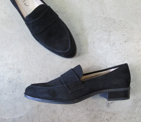 UNISA Batis_KS Suede Loafer - Black