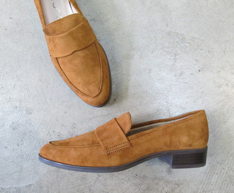 UNISA Batis_KS Suede Loafer - Chestnut (Tan)