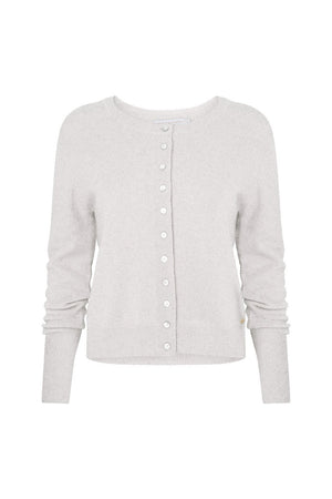 Mia Fratino - PURE ESSENTIALS BUTTON CARDI in Blizzard