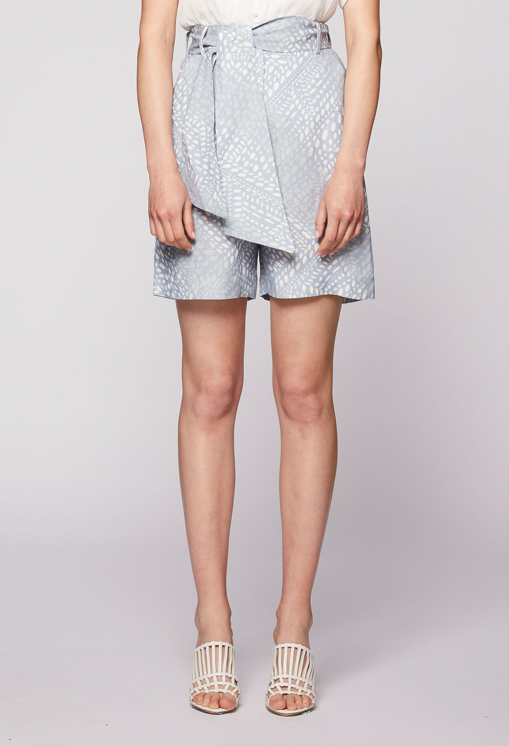 ONCE WAS - POLLEN LINEN BLEND SHORTS