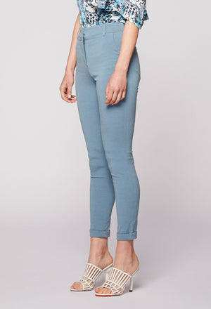 ONCE WAS - MORPHIC STRETCH FAILLE SLIM FIT PANT CLOUD BLUE