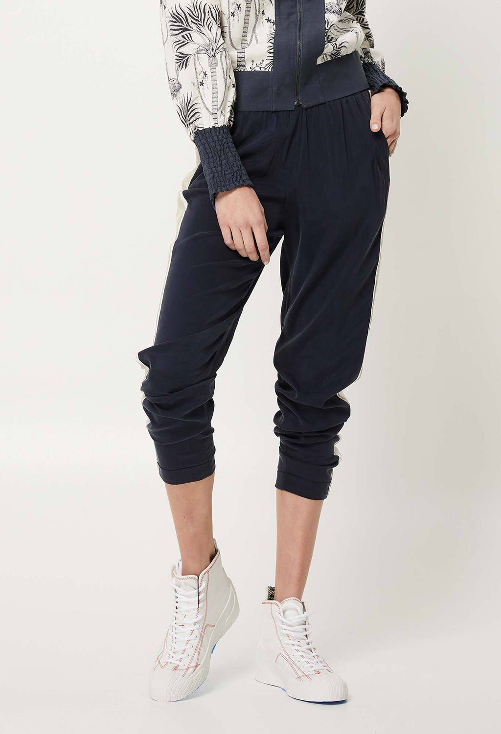 once was navy cupro joggers online hunterminx
