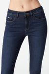 mavi high rise skinny dark jean close