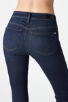 mavi high rise skinny dark jean back pocket flattering detail