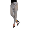 Fabia Jogger zhrill yellow herringbone cuffed sweatpant styled with heels