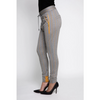 Fabia Jogger zhrill yellow herringbone cuffed sweatpant sideview
