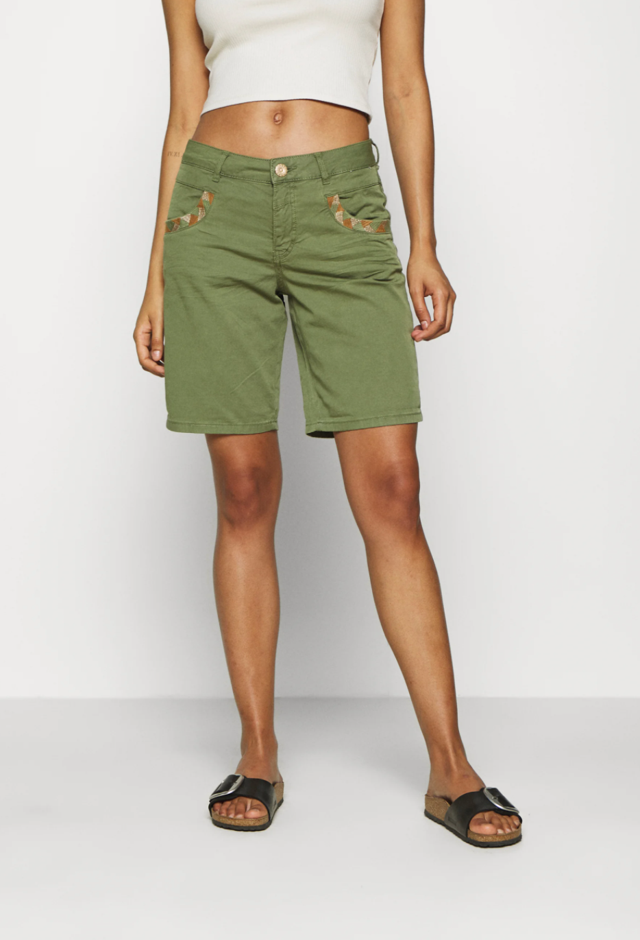 shop online Mos Mosh - Naomi Deecor G.D Shorts Green Oil hunterminx