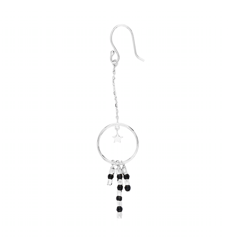 BY CHARLOTTE - Silver Onyx Dream Lover Earrings