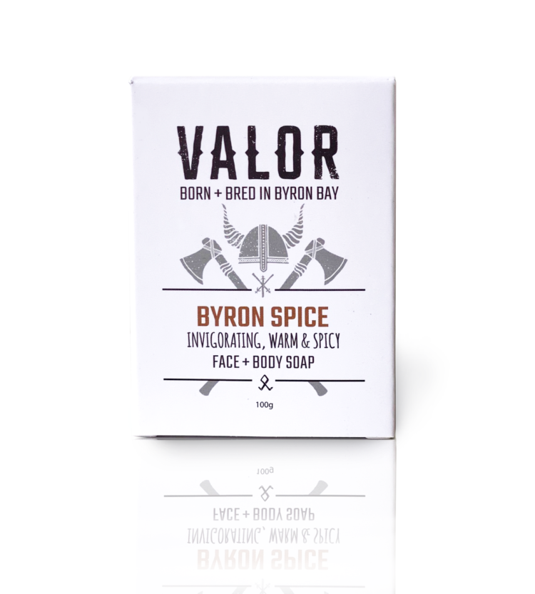 Shop Valor natural soap for face and body in byron spice fragrance