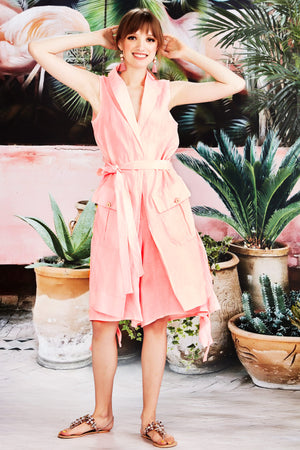 CURATE by Trelise Cooper - On the Low Jacket Linen Pink