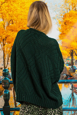 i like knit like that knit forest green back