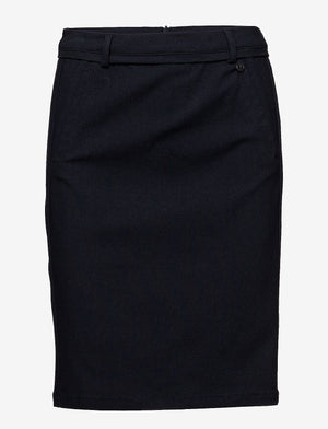 minus carma skirt black iris/navy work skirt