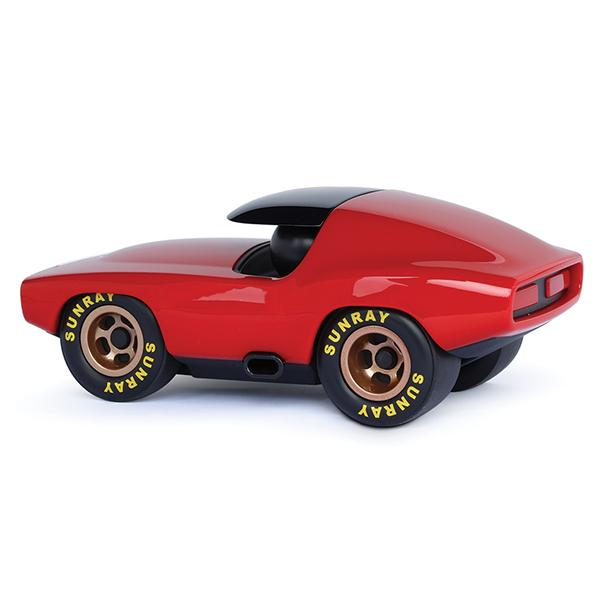 playforever red verve leadbelly vincent muscle car black roof and wheels