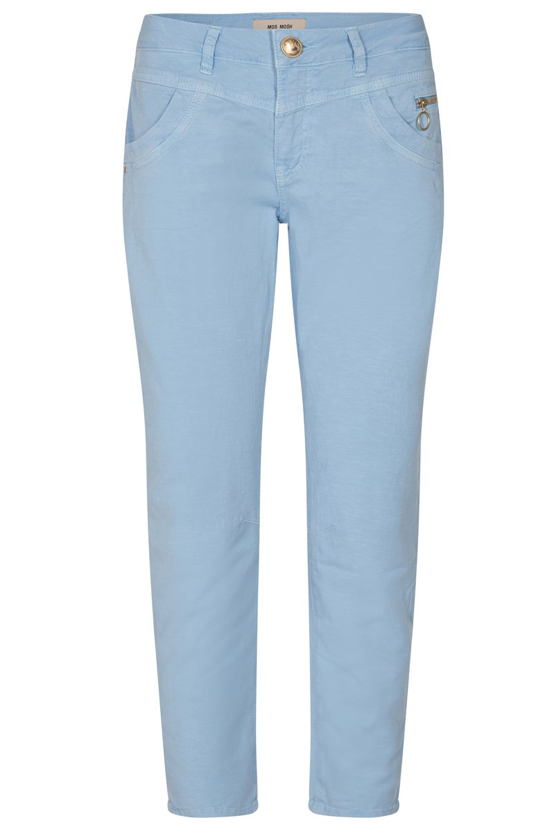 Shop online mos mosh sharon GD pant in chambray blue summer pant hunterminx