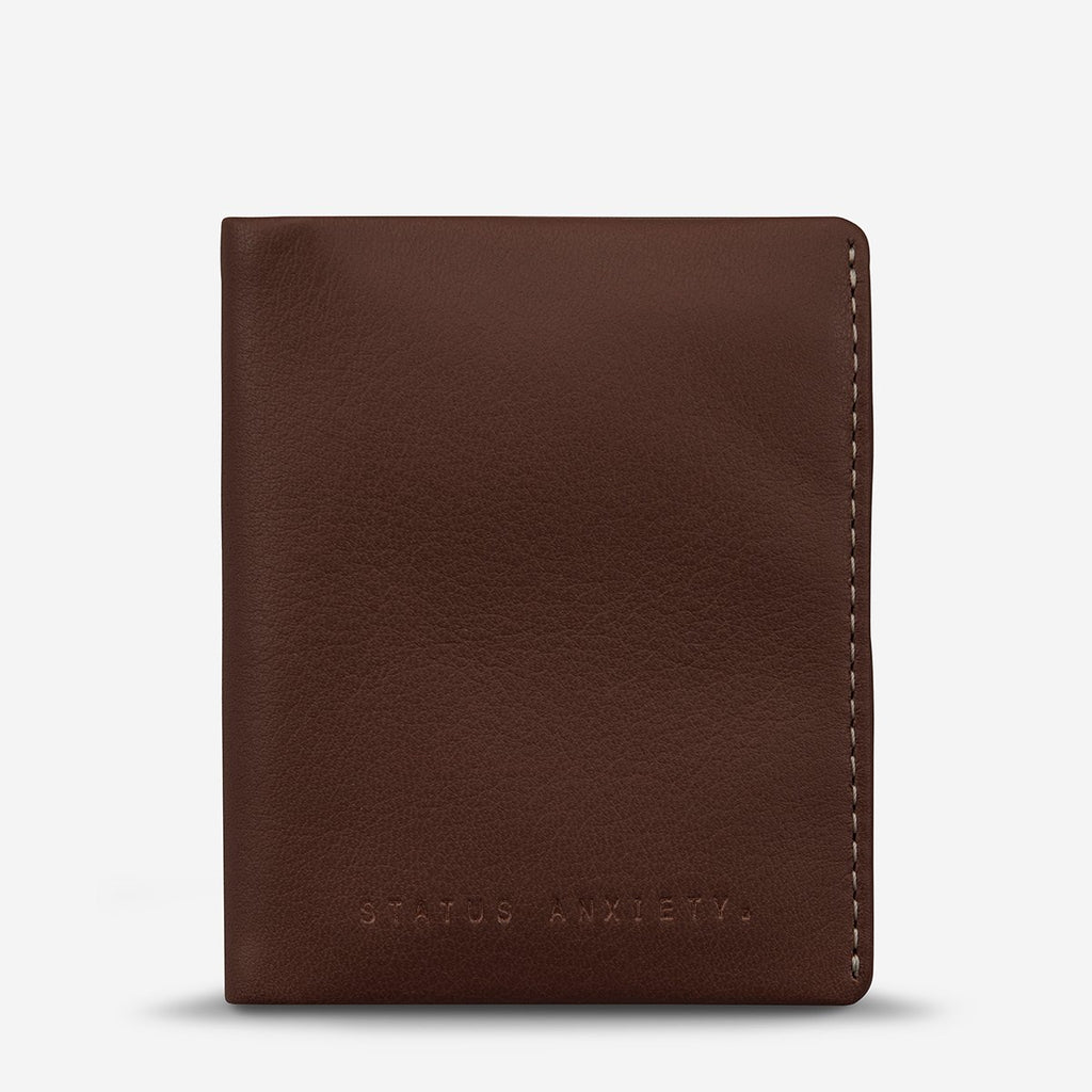 status anxiety wallet edwin chocolate front
