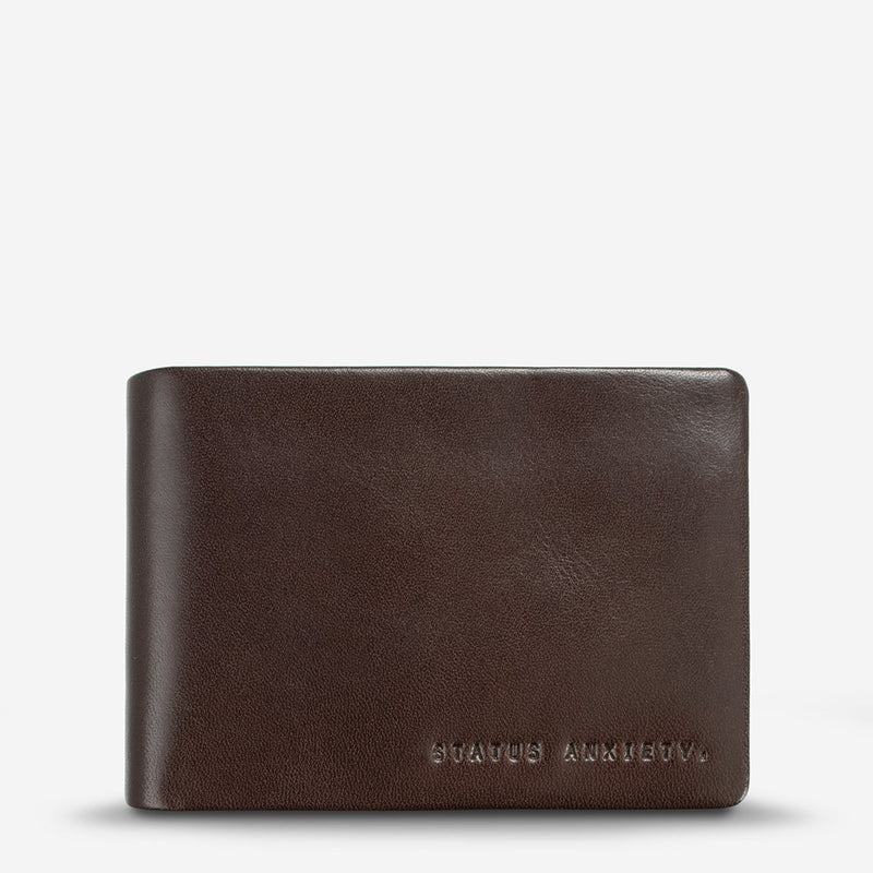 status anxiety wallet jonah chocolate front