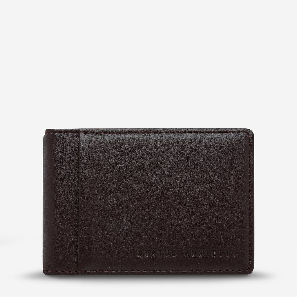 status anxiety wallet melvin brown front